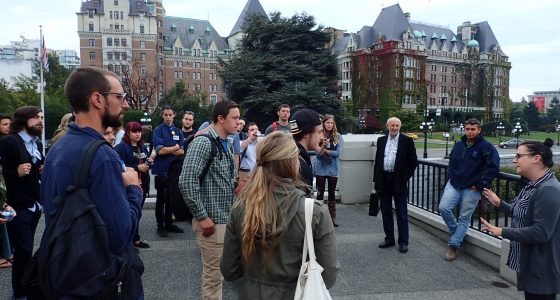 Students in group in front of Empress hotel