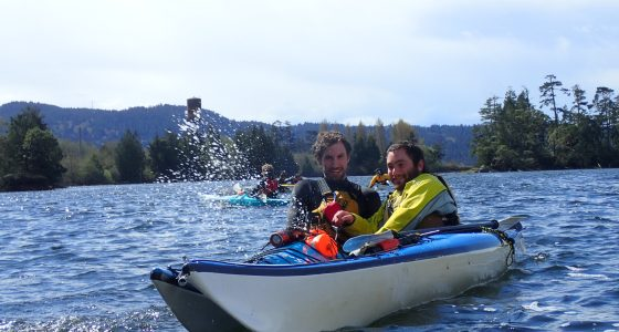 Students in kayak